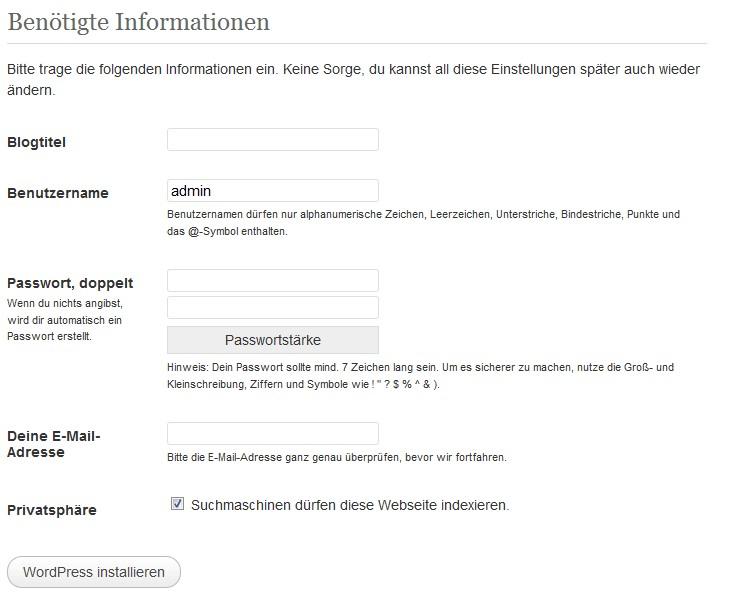 wordpress-infos