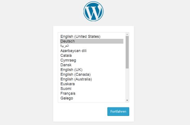 WordPress 4 Sprachauswahl